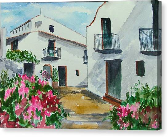 Spanish Balconies Canvas Print by Heidi Patricio-Nadon