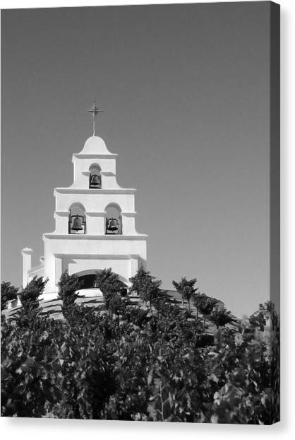 Spanish Mission In The Vineyards I Canvas Print