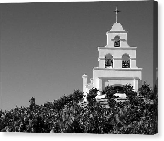 Spanish Mission In The Vineyards II Canvas Print