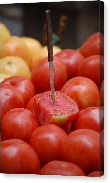 Spanish Tomatoes Canvas Print by Dickon Thompson