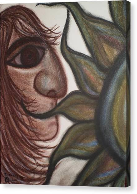 Speak No Evil Man Canvas Print by Tracy Fallstrom