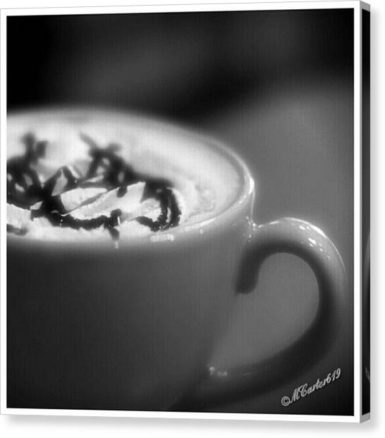 Liquor Canvas Print - Special Cup...cappuccino With A Bit Of by Mary Carter