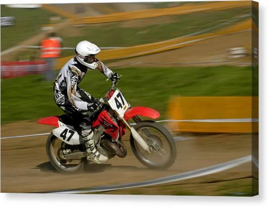 Motocross Canvas Print - Speed - Motocross Rider by Matthias Hauser