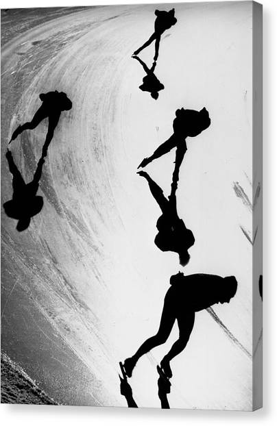 Speed Skating Canvas Print - Speed Skaters by Keystone