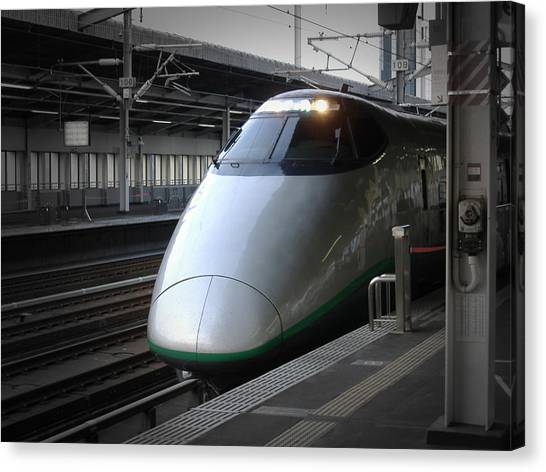 Bullet Trains Canvas Print - Speed Train by Naxart Studio
