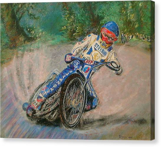 Speedway Rider Edinburgh Monarchs Canvas Print