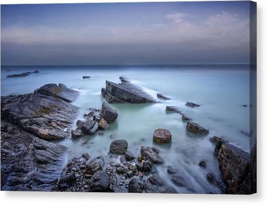 Speke's Mill Mouth Canvas Print by Mark Leader