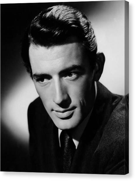 1945 Movies Canvas Print - Spellbound, Gregory Peck, 1945 by Everett