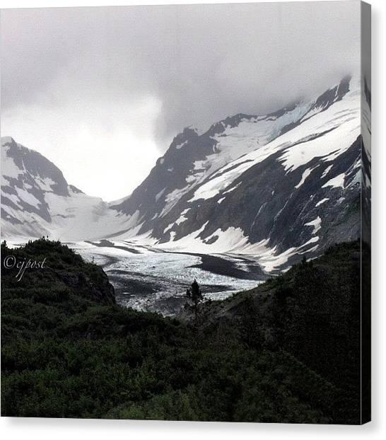 Glaciers Canvas Print - #spencerglacier #alaska #nofilter by Cynthia Post