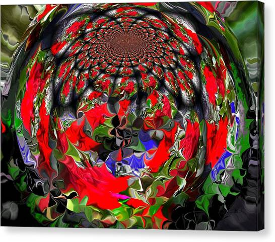 Spherical Bloom Canvas Print by Jan Steadman-Jackson