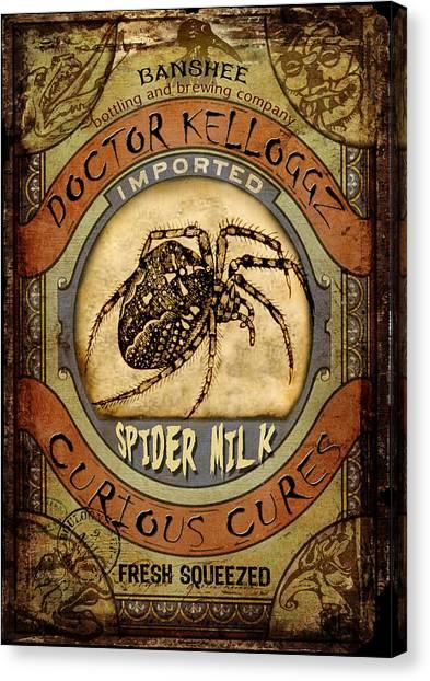 Spider Milk Canvas Print