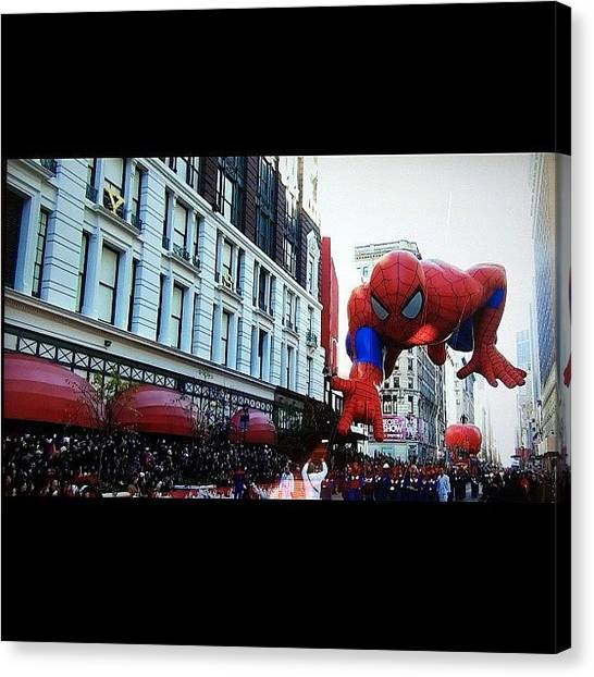 Holidays Canvas Print - Spiderman by Lea Ward