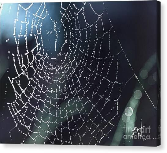 Spiderweb Blues Canvas Print