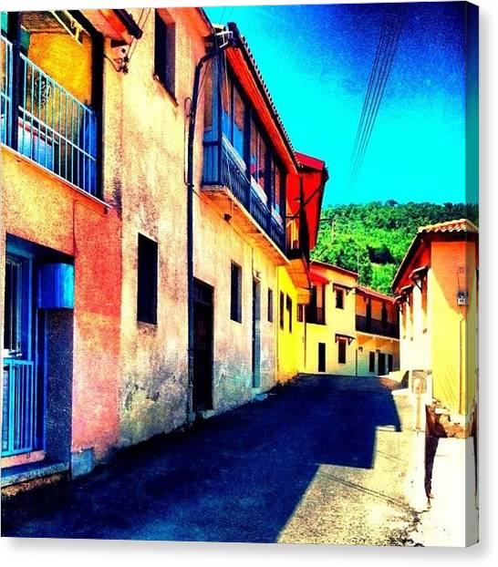Greek Art Canvas Print - #spilia #cyprus #dynamiclight #village by Stacy Stylianou