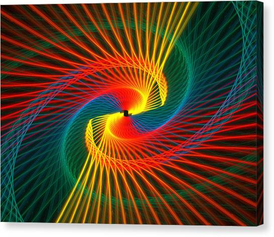 Spiral Rainbow  Canvas Print by Kim French