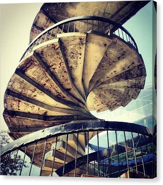 Spiral Canvas Print - Spiral Stair II #spiral #stairs by Jess Gowan