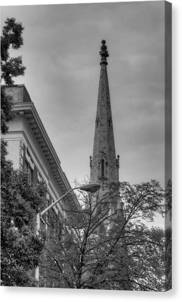 Spire From Trees Canvas Print