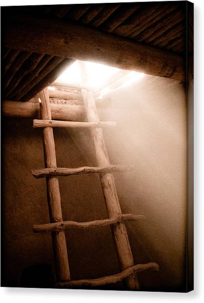 Canvas Print featuring the photograph Spirit Ladder by Mark Forte