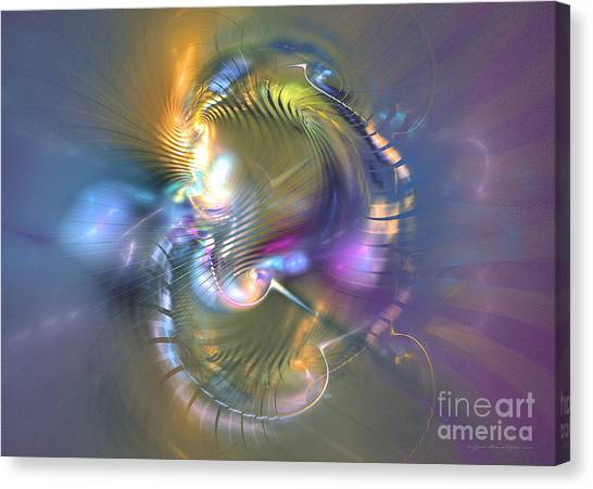 Spirit Of Nobility - Abstract Digital Art Canvas Print by Sipo Liimatainen