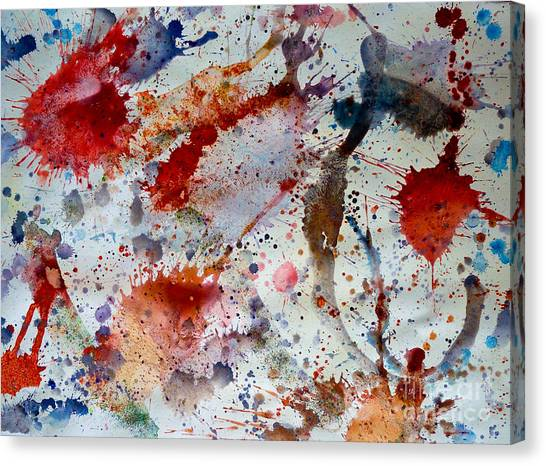 Splash Canvas Print by Bill Davis