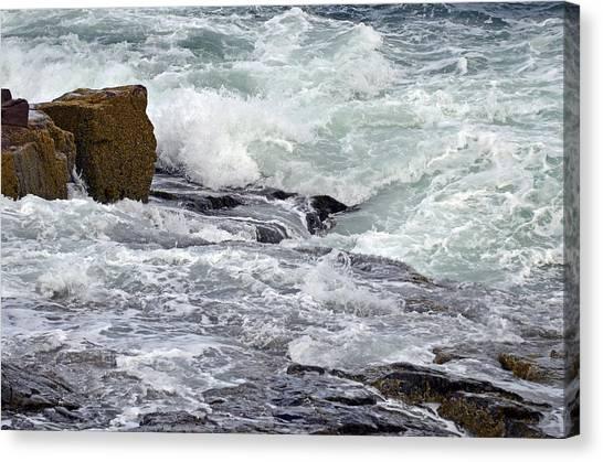 Canvas Print featuring the digital art Splash Of Sea Lace by Lynda Lehmann