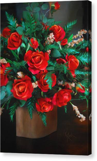 Splashes Of Red Canvas Print