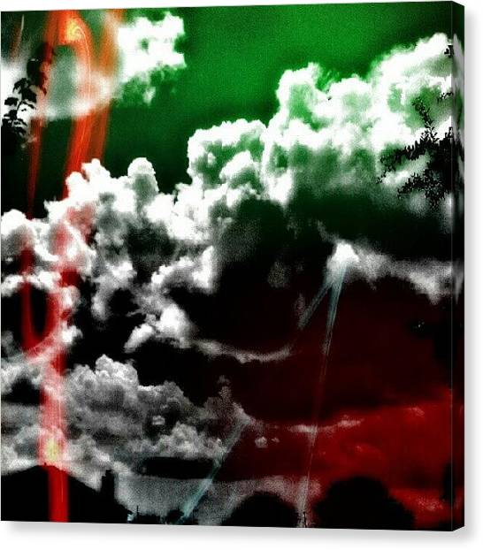 Hot Dogs Canvas Print - Splendid Sky by Percy Bohannon