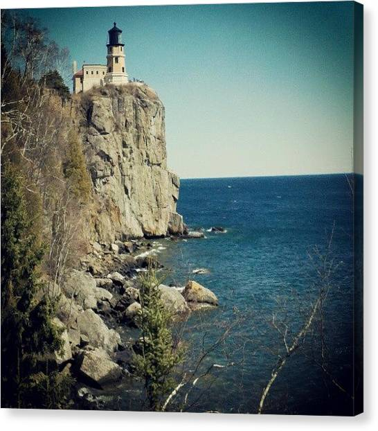 Lighthouses Canvas Print - Split Rock by Amber Abreu
