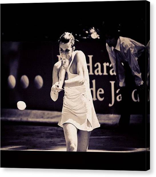 Tennis Ball Canvas Print - #sport #tennis #withe #ball by Alexandre Stopnicki