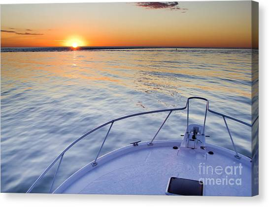 Ocean Sunrises Canvas Print - Sportfish Sunrise On The Atlantic by Dustin K Ryan
