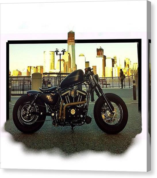 Harley Davidson Canvas Print - #sportster #sporty #hd #harley by Omar Elsebai