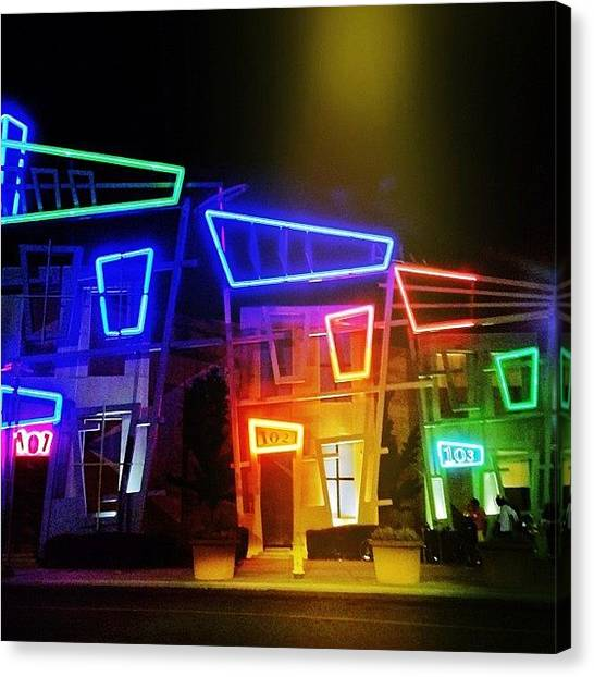 Science Fiction Canvas Print - Spotlight Nightlife by Amy DiPasquale