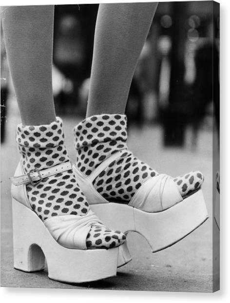 Spotty Socks Canvas Print by Gunnar Larsen