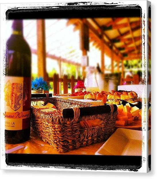 Tables Canvas Print - Spread At The Winery by Jason Fleming