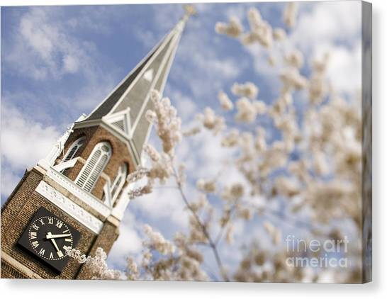 Belmont University Canvas Print - Spring At Belmont Abbey College by Patrick Schneider