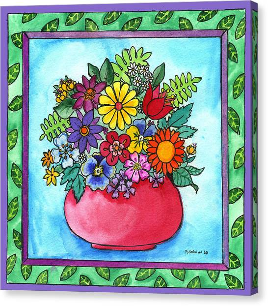 Spring Bouquet Canvas Print by Pamela  Corwin