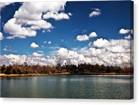 Canvas Print featuring the photograph Spring Clouds by Edward Peterson
