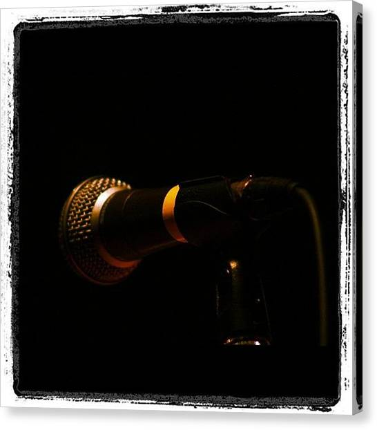 Concert Canvas Print - Spring #concert #mic #music #sing #new by Joseph Codispoti