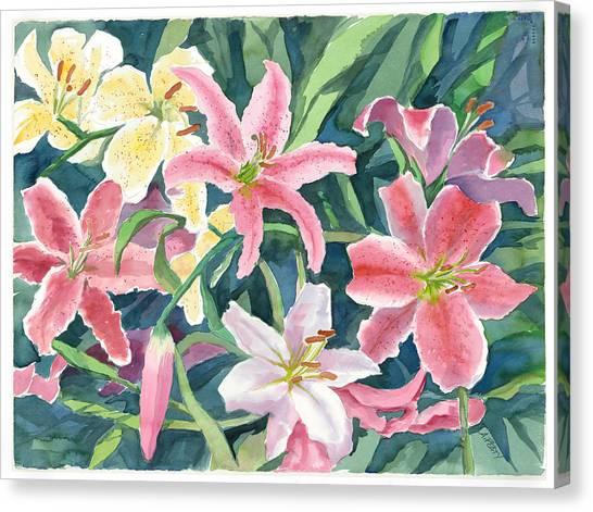 Spring Lilies Canvas Print