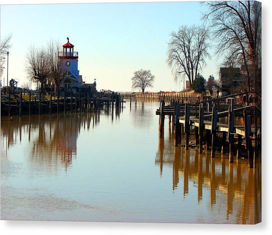 Spring On The Ausable River At Grand Bend Canvas Print