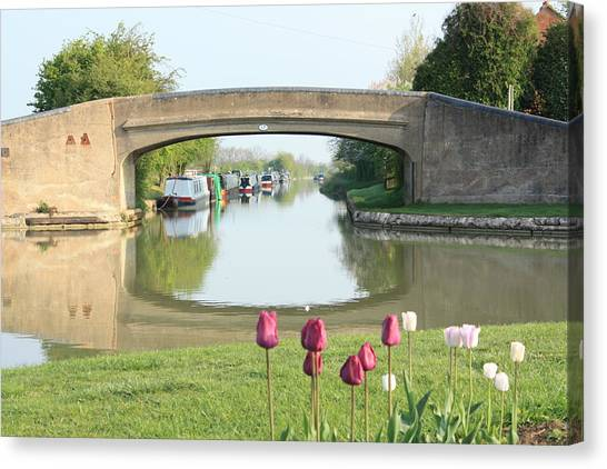 Spring On The Oxford Canal Canvas Print