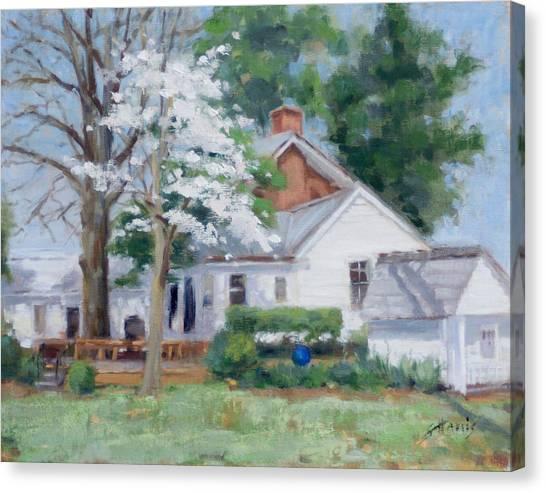 Spring On Windy Hill Canvas Print by Sandra Harris