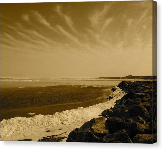 Spring Wakes Ocean Canvas Print