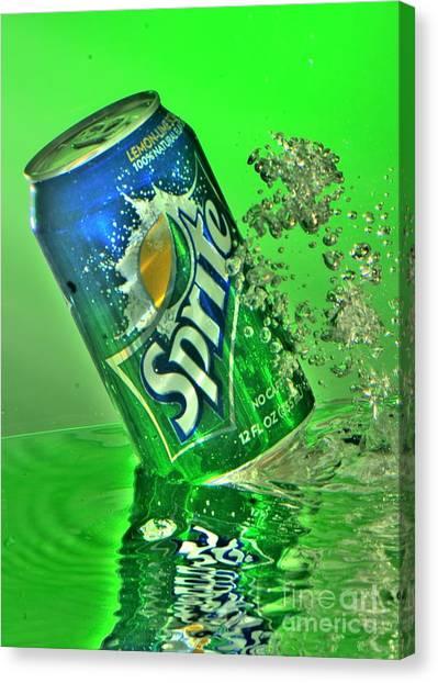 Sprite Splash Canvas Print by Corky Willis Atlanta Photography
