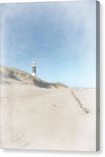 Spurn Point Lighthouse Texture Canvas Print