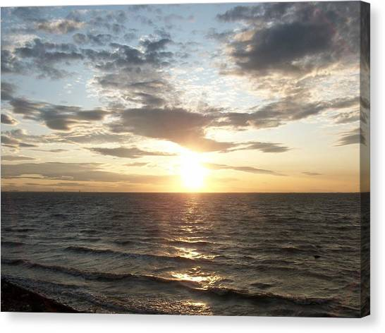 Spurn Point Sunset Canvas Print