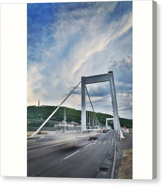 Art Movements Canvas Print - #squaready #elizebethbridge #bridge by Byron Ovalle