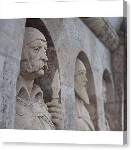Roman Art Canvas Print - #squaready #hungary #budapest #guards by Byron Ovalle