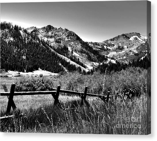 Squaw Valley At Lake Tahoe Canvas Print