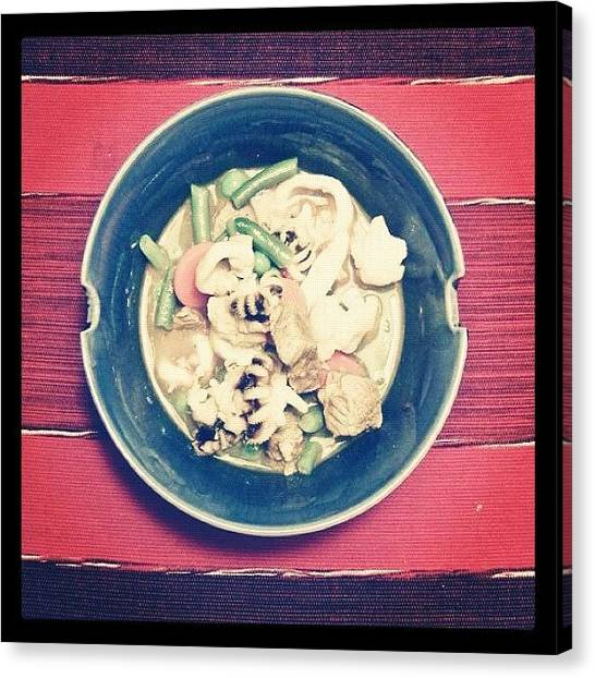 Squids Canvas Print - Squid, Pork And Vegie Soup Balinese by Deni M